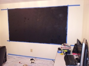 finished blackboard wall