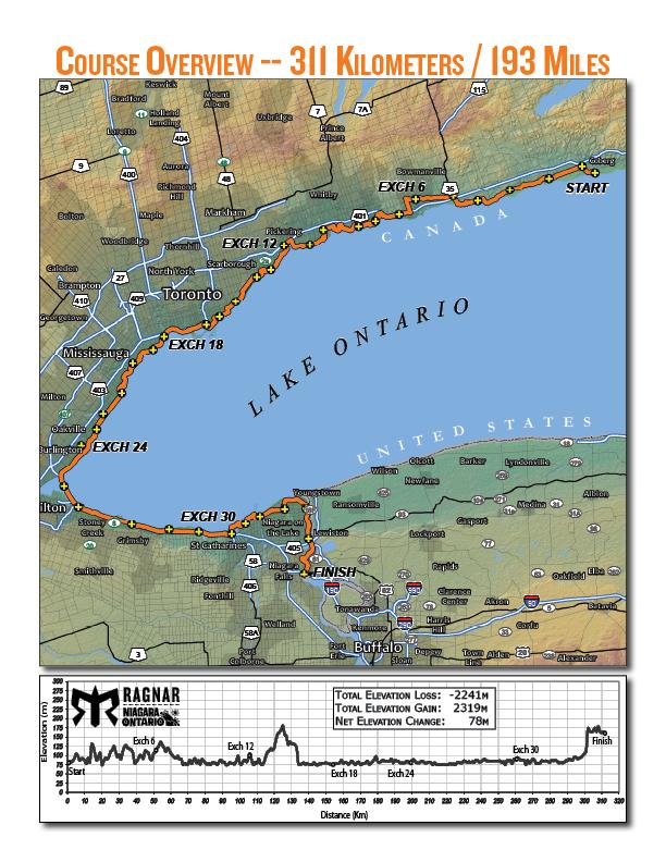 Ragnar Ontario map