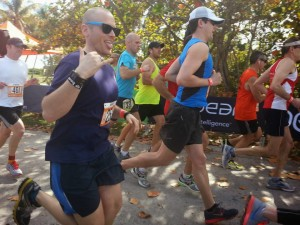 Adam starting the Florida Keys 2014 Ragnar for Team Sudo Run Faster