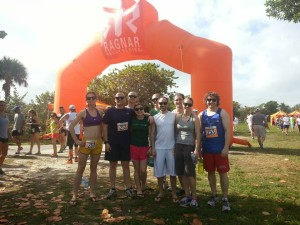 Team Sudo Run Faster standing together at the 2014 florida keys ragnar start line
