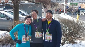 Adam Jeney and Eva finish the Syracuse half marathon 2014