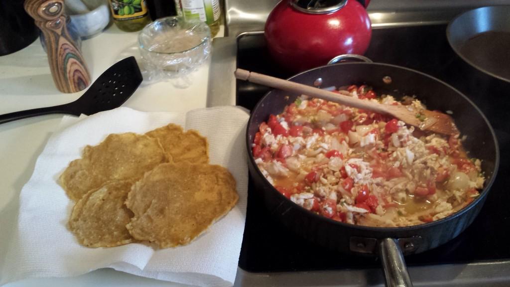tilapia fish tacos with plantain tortillas