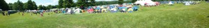 Panorama of the entire camping area at Trail Ragnar Northfield MA 2015