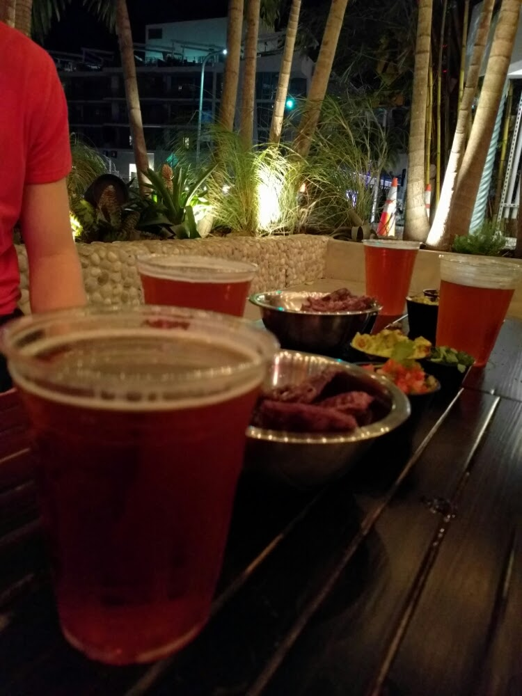 Beers and chips at Taquiza in Miami Beach