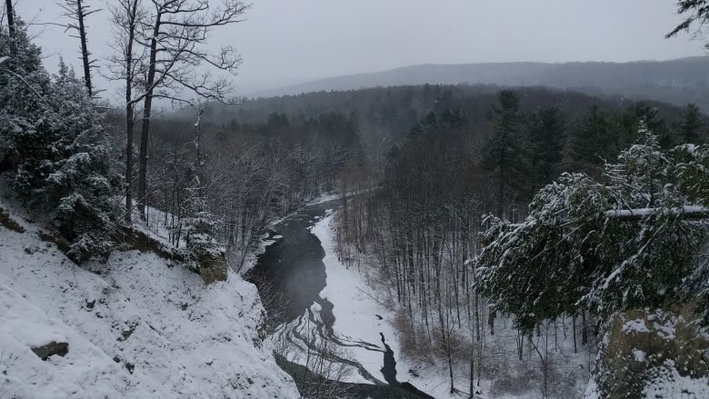 monkey run winter 2016 looking east
