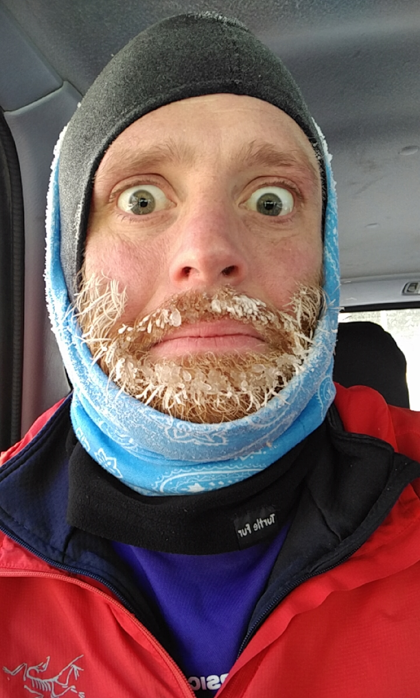 Adam's ice beard from running in ithaca winter 2016
